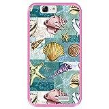 Coque pour [ Huawei Ascend G7 ] Dessin [ Modèle avec Coquillages, coraux et étoiles de mer ] Etui...