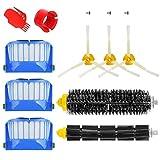 YanBan Kit de Repuesto de Filtro de Cepillo para Irobot Roomba 600 610 620 650 Series Kit de Limpieza para 650 620 651 621 615 616 605