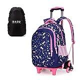 Mochila escolar con ruedas, mochila escolar para niños, trolley mochila escolar para niñas, 45 x 30 x 18 cm
