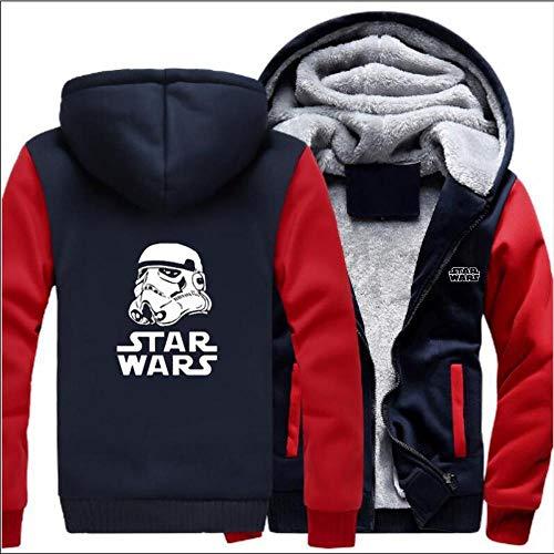 Unisexe Chandail à Capuchon Veste Star Wars Imprimé Manteau Chaud Sweat à Capuche à Manches Longues Sport Broder G-M