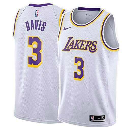 Nike Anthony Davis Los Angeles Lakers NBA Boys Youth 8-20 White Association Edition Swingman Jersey (Youth Large 14-16)