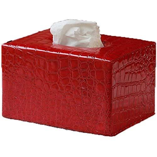 Soporte de Caja de Pañuelos para Casa Caja de pañuelos - caja de pañuelos de cubierta, soporte rectangular de almacenamiento de tocador de baño, encimera, armario ropero, soporte de la noche, escritor