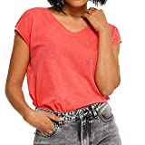 Only ONLSILVERY S/S V Neck Lurex Top JRS Noos Camiseta, Tea Rose, M para Mujer