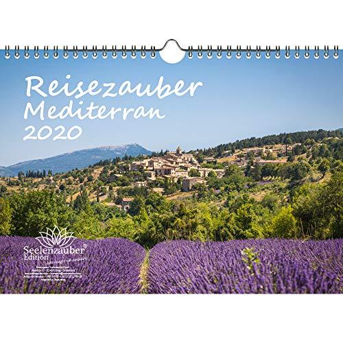 Reisezauber Mediterran DIN A4 Kalender 2020 Europa rund um das Mittelmeer Stadt und Land Geschenk-Set: Zusätzlich 1 Gruß- und 1 Weihnachtskarte - Seelenzauber