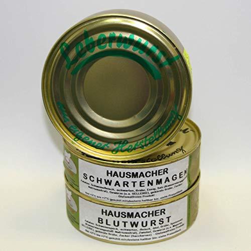 Hausmacher Dosenwurst Klassiker ohne Kartoffelwurst 200g Probierset, Dosenwurst, Vorteilsset, Vorratsset, Landmetzgerei Sandritter