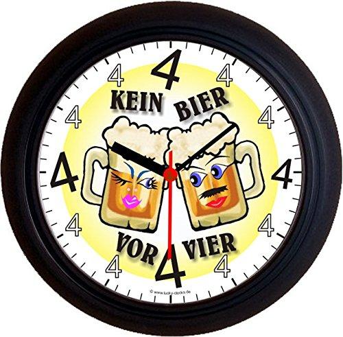 Lucky Clocks BIERUHREN KEIN Bier VOR Vier 4 GLÄSER Wanduhren