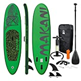 ECD Germany Tabla Hinchable Makani Paddle Surf/Sup 320 x 82 x 15 cm Verde Stand up Paddle Board...
