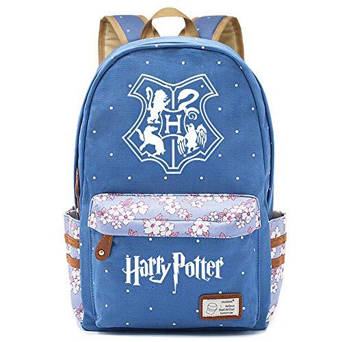 NYLY Elegante Hogwarts Escuela Mochila Repelente al Agua Floral Casual Daypack Bolsa de ordenador para mujeres/niñas/niño/chico Grande S-10
