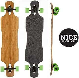 Nice Bamboo Longboard Twin Kick