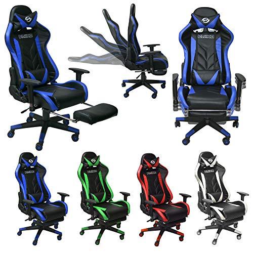 Vaiko Bürostuhl Gaming Schreibtischstuhl Drehstuhl Race Chair Sportsitz + Beinauflage …