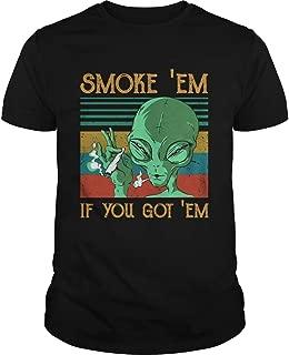 Aliens Smoke Em If you got Em vintage shirt, Tees, Unisex Hoodie, Sweatshirt For Mens Womens Ladies Kids
