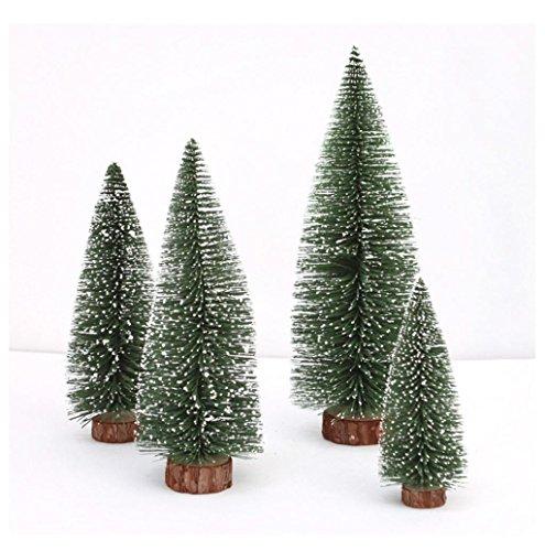 XShuai Mini bâton de sapin de Noël en cèdre blanc, petit arbre de Noël, cadeau pour vacances, fête de mariage, décoration de Noël (vert, 20 cm)