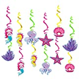 30 pcs Mermaid Hanging Swirls, Mermaid Themed Party Supplies, Marine...