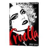 NCCDY Filmposter Cruella Emma Stone, dekoratives