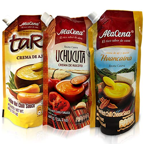 Alacena Crema Huancaina, Crema de Ajií Tari y Crema de Rocoto Uchucuta Combo