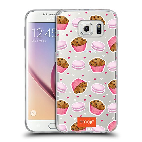 Head Case Designs Oficial Emoji Masa de Galletas Pasteles Carcasa de Gel de Silicona Compatible con Samsung Galaxy S6