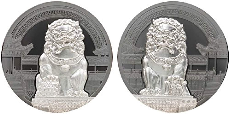 energia Coin  nese Guardian Lions Leoni Guardiani 2x2 Oz Monete argentoo 10  Palau 2017