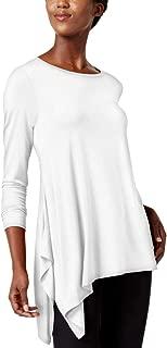 Alfani Womens Asymmetric Pullover Casual Top