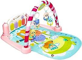 حمالة الطفل في صالة الألعاب الرياضية، دوّاسة لموسيقى البيانو، لعبة موسيقية للأطفال حديثي الولادة مع جهاز تحكم عن بعد
