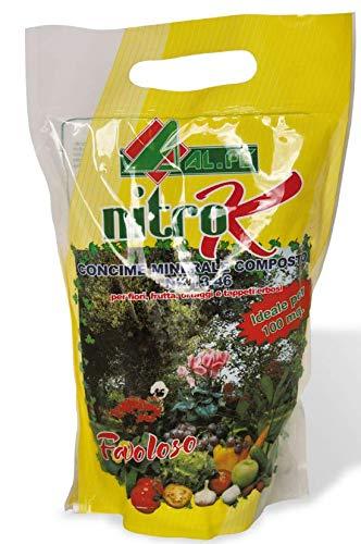 Alfe - Abono Nitro K con nitrógeno y potasio, paquete de 2kg