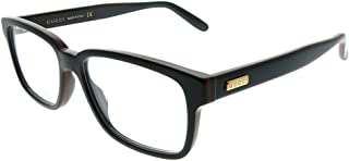 3350948fad2 GUCCI STRIPE 0272 Black Square Eyeglasses Optical Frame 53mm