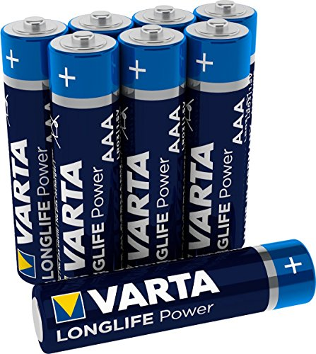 VARTA Longlife Power AAA Micro LR03 Batterie (8er Pack) Alkaline Batterie - Made in Germany - ideal für Spielzeug Taschenlampe Controller und andere batteriebetriebene Geräte