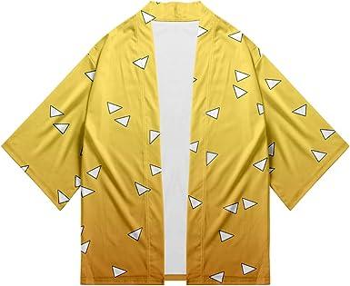 Kimono Demon Slayer Estampado Cardigan Camisa Kimetsu no Yaiba Cosplay Tshirt Japonés Elegante Kimono Albornoz Verano Pijamas