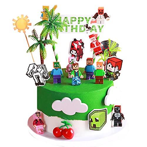 Minecraftes Cake Topper Mini Juego de Figuras...