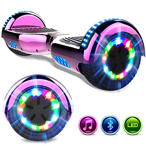 GeekMe Hoverboard 6.5'' Self Balance Scooter Las Ruedas LED Luces, Scooter eléctrico con Bluetooth - Patinete Eléctrico 2 * 350W