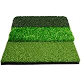Stripe Golf Tri-Turf Golf Hitting Mat - Grass Mat for Driving and Chipping Practice - 26'x16'