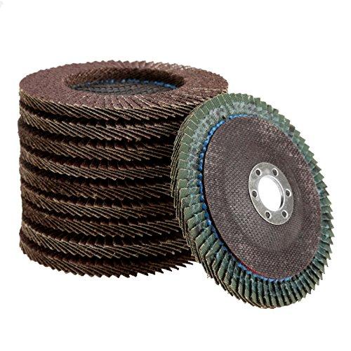 "10Pcs Grit 60# 4"" Abrasive Flap Sanding Disc Polishing Wheel Grinding Disc"