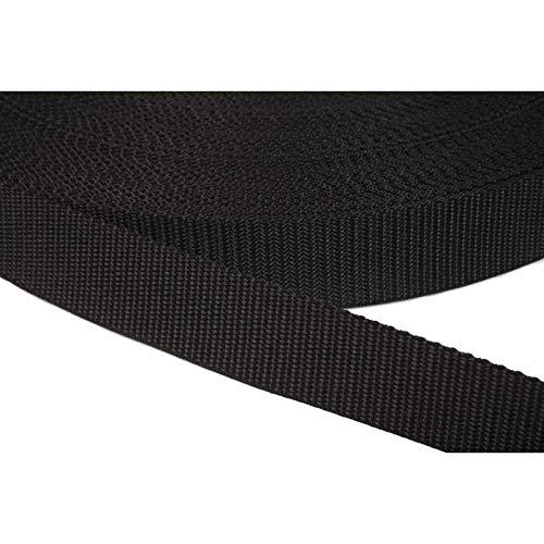 PP Gurtband 30mm aus Polypropylen, 12 Meter lang, 1,2mm Stark/Farbe: 41 – schwarz