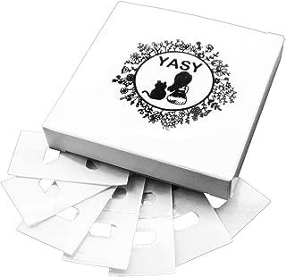 YASY 25 Set Vertical Blind Repair Tabs Vane Saver Clear Venetian Stick(50pcs)