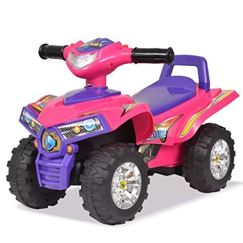 EBTOOLS Quad Elettrica Bambini, Auto ATV Elettrica Bambini con Suono e Luce, Rosa + Viola, per Bambini da 12 a 36 Mesi, Fino a 27 kg