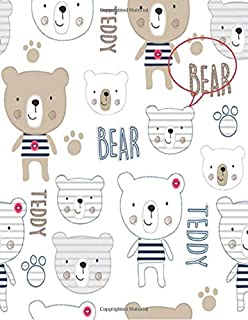 Teddy Bear: Teddy Bear Lined Exercise Journal with 150 Pages To Write Draw Sketch For Boys Girls Teens And Student (Children's Collections)