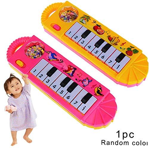 Heall Teclado 1PC niños Ultifunction Electrónico niños Piano de Juguete Teclado Juguete del Instrumento Musical Infantil del niño del Juguete Educativo temprano (al Azar)
