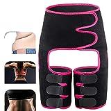 SJASD Oberschenkel Bandage Hüftstütze, Einstellbare Neopren Groin Stützbandage Für Hip Ischias Verletzung Schmerzlinderung,Rot,XL