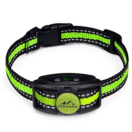 No Shock Bark Collar – Rechargeable Bark Control Device,w/ 2 Training Modes,Beep to Vibration and Strong Vibration,Smart Chip,IP67 Waterproof, No Pain Anti Bark Device for Small,Medium and Large Dog
