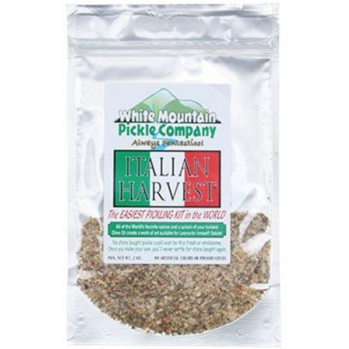 White Mountain Pickle Co. Italian Harvest Pickling Kit - No Canning Jars Needed