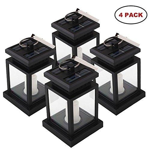 Mabor Lampe Solaire Eclairage LED de Jardin, Chandelle Lanterne Bougie, Eclairage de Jardin Solaire Parfaite à Poser ou à Suspendre pour la Tente, Parapluie