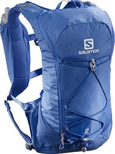 Salomon AGILE 12 SET Mochila ligera de trail running, Unisex, Incl. 2 botellas SoftFlask 500 ml, LC1417900, , Azul (Nebulas Blue)