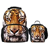 showudesigns - Mochila infantil Multicolor Tiger Head Set