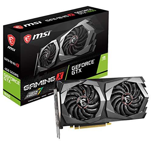 MSI Gaming GeForce GTX 1650 128-Bit HDMI DP 4GB GDRR5 HDCP Support DirectX 12 Dual Fan VR Ready OC Graphics Card (GTX 1650 Gaming X 4G)