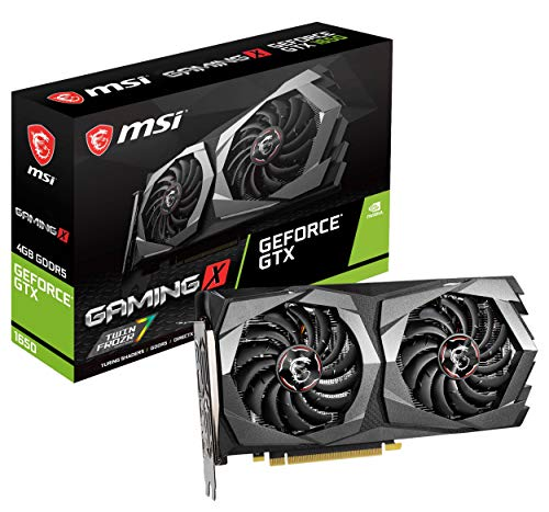 MSI Gaming GeForce GTX 1650 128-Bit HDMI/DP 4GB GDRR5 HDCP Support DirectX 12 Dual Fan VR Ready OC Grafikkarte (GTX 1650 Gaming X 4G)