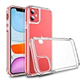 TOOBY Cover per iPhone 11, Custodia Trasparente TPU Silicone Case Shock Absorption Cover Ultra...