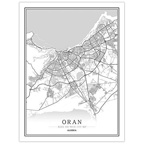 fsafa Oran City Map Jigsaw Puzzle Desafiante Juego Educativo Intelectual Descompresión Juguete,En Casa,Bloqueo,Regalo De Cumpleaños,Arte De La Pared,Bonito Conjunto De Regalos,1000 Piezas