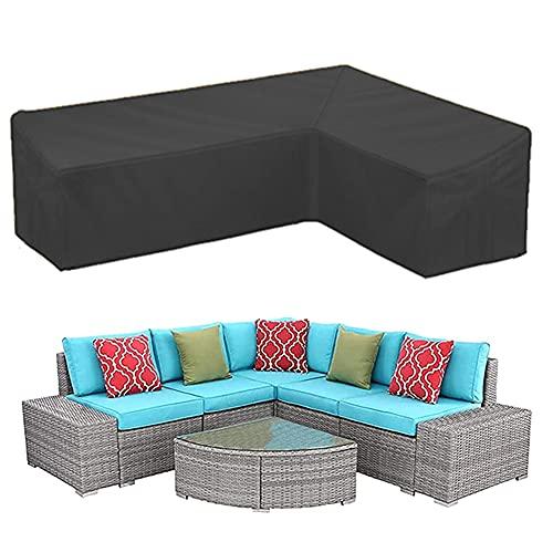 LIUXIN 420D Sofa Funda para Muebles de Jardín, Durable Funda en Forma de L para Muebles, Impermeable Funda Sofa para Exterior