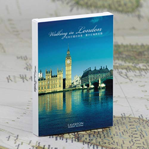 Yoin 30sheets/LOT Maak een reis wandelen in Londen ansichtkaart/wenskaart/wenskaart/Fashion Gift