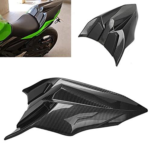 Motorcycle Rear Seat Cowl Passenger Rear Seat Cover Pillion Tail Cover Fit for Kawasaki Ninja 650r ER-6F 650 2017 2018 2019 2020 NINJA 650 17-20 Rear Seat Fairings Cover Cowl (Carbon Black)