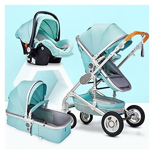 XYSQ Cochecito De Niño 3 En 1, Cochecito De Bebé, Sistema De Viaje para Bebés, Cochecito Recién Nacido Baby Shuschchair Alto Paisaje, Cochecitos De Cochecito De Bebé para 0-36 Meses Baby Trolley